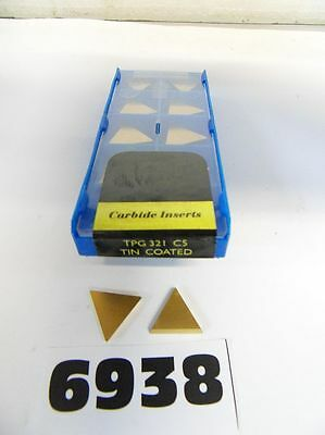Tpg321 C5 Tin Coated Carbide Insert - 10 Pieces **new** Pic#6938