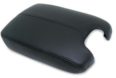 Fits 2008-2012 Honda Accord Black Synthetic Leather Console Lid Armrest Cover