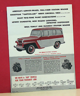1959 Jeep Station Wagon Mailer/Sales Brochure - 2-Wheel Drive