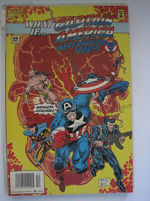 WHAT IF ...  68. Vol. 2  started in 1989. Featuring .. CAPTAIN AMERICA.   MARVEL
