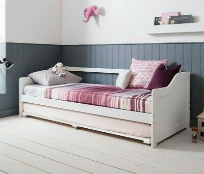Day Bed Single Bed with Underbed. In White 2 beds in 1