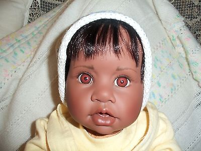 DARK SKIN  GOTZ 21 INCH BIG BABY GIRL DOLL GIINN NUMBERED 492 Looks Real