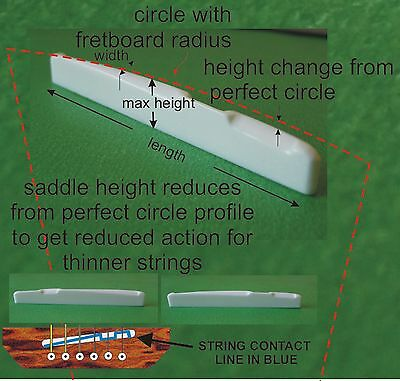 Compensated Bone Saddle. Length,Width,Height, RADIUS and Action change. PS023