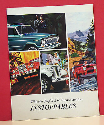1965 Jeep Vehicles Full-Line Sales Brochure - French Language