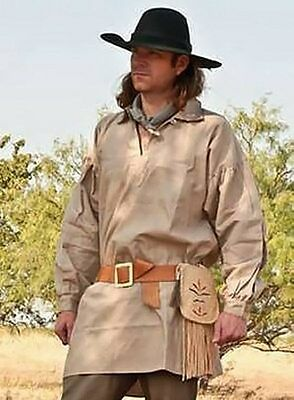 18TH CENTURY FRONTIER PULLOVER SHIRT, REENACTMENT RENDEZVOUS CLOTHES