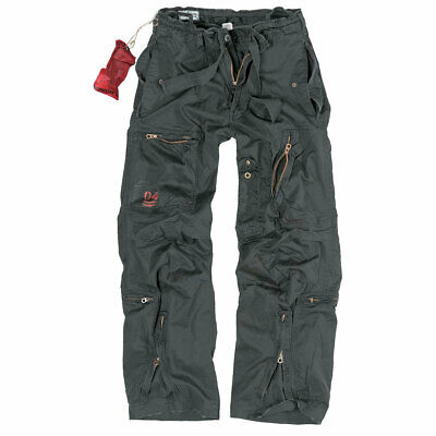 SURPLUS INFANTRY CARGO HOSE schwarz S-XXL Army Vintage Trousers Outdoorhose NEU