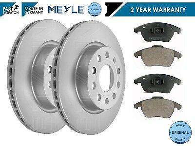 FOR VW GOLF MK5 FSi TSi GT TDi FRONT MEYLE GERMANY PLATINUM BRAKE DISCS PADS