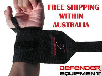 Gym Wrist Strap Band Thumb Bar Support Weight Lifting Fitness BodyBuilding