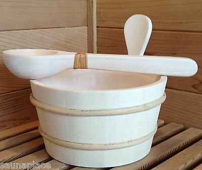 Aspen Sauna Bucket With Liner And Ladle / Dipper --Free Shipping!