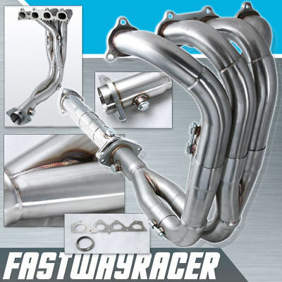 Prelude H22 H-series Swap 2.5'' Tri-Y Exhaust Header + Test Pipe Civic DC2 H22A