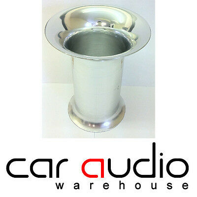 "3"" Chrome Alluminium Bass Box Sub Subwoofer Enclosure Port"