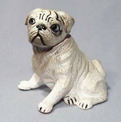 New Ray Novelty 1988 Figural Rubber Pug Dog Toy - Cute!
