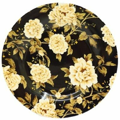 Decorative Peony Tree Fine China Sanderson Queens Black Floral Side Plate