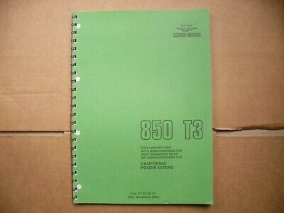 Moto Guzzi 850 T3 And 850 T3 California  Parts Book 1978- 1979 (((See Listing)))