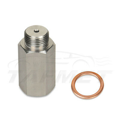 Lambda O2 Oxygen Sensor Extender Spacer for Decat & Hydrogen M18 Stainless Steel