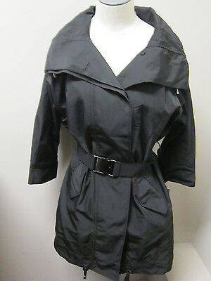 Kenneth Cole Women/'s Belted Anorak w// 3//4 Sleeves Black NWT