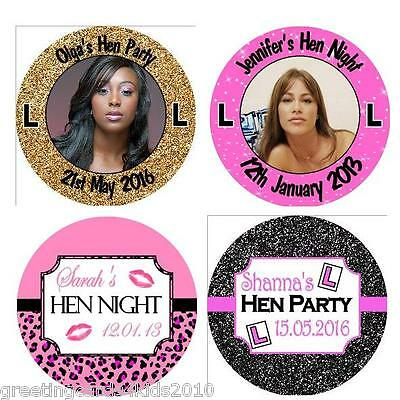 Personalised Hen Night Party Stickers Labels 3 sizes available