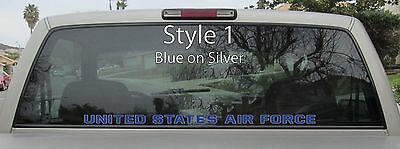 US Air Force Window Sticker Vinyl Decal USAF Airborne - Var. Sizes and Colors