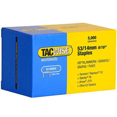 Tacwise Type 53/14 Series Staples 14mm 5000 Pack 0452