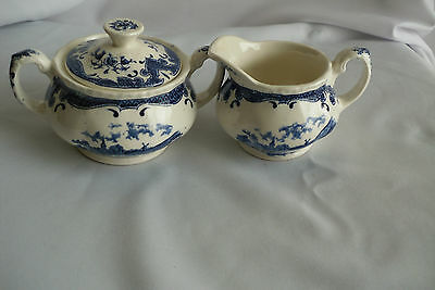 Grindley Transferware Staffordshire Scenes After Constible Creamer And Sugar