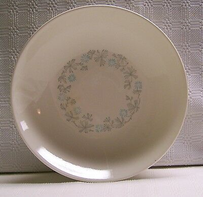 Stetson China Blue Gray Floral Round Vegetable Bowl Vintage 1958