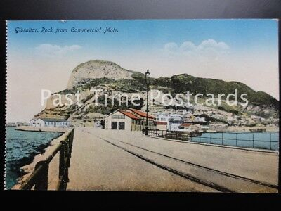 Old PC - Gibraltar: Rock from Commercial Mole