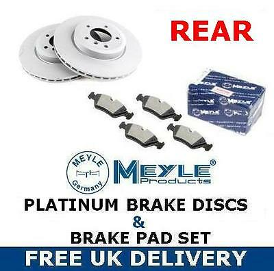 FOR VW GOLF MK5 FSi GT TDi REAR MEYLE GERMANY PLATINUM BRAKE DISCS BRAKE PADS