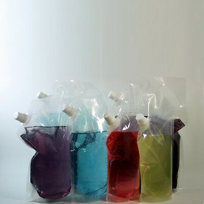 6pk Concealable Plastic Flask 2x1/2gal 2x16oz-8oz Cruise Drink Runners Rum Wine