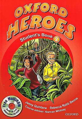 OXFORD HEROES 2: Student's Book w MultiROM CD by Quintana, Robb Benne @NEW BOOK@