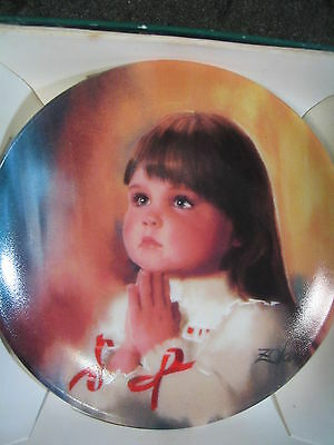 Donald Zolan 1990 A CHRISTMAS PRAYER Miniature Plate MIB