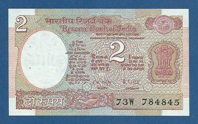 INDIA -- 2 RUPEES ND ( 1976 ) -- UNC -- NO LETTER -- PICK 79j .
