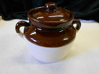 Vintage McCoy Brown Stoneware Crock Pot. Small. No Chips or Cracks. 6 x 6 Inches