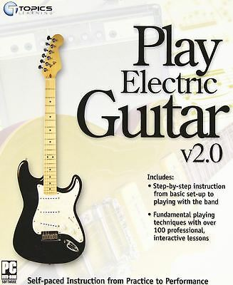 Play Electric Guitar v2.0 - Topics Learning Interactive Instructions PC NEW