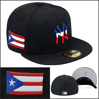 wholesale dealer 1ceb8 cbc6b New Era New York Yankees Fitted Hat Cap Puerto Rico Rican PR Flag Day  Parade wbc
