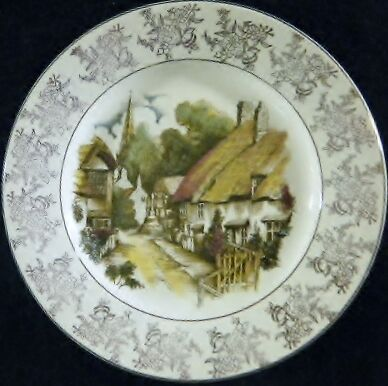 Beautiful Decorative Plate Royal Falcon Ironstone Weatherby Hanley England 2-83