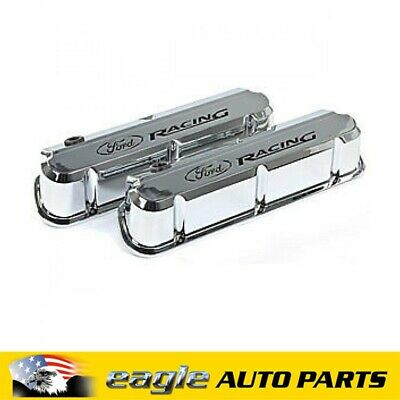 Ford Racing 289 302 351 Windsor Chrome Slant Edge Valve Covers # 302-139