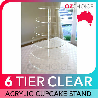 5 Tier Cupcake Stand Clear Hard Acrylic for Wedding or Special Event