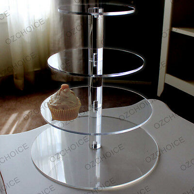 4 Tier Cupcake Stand Clear Hard Acrylic for Wedding or Special Event