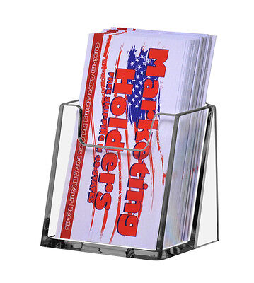 New Clear Plastic Countertop Vertical Business Card Holder Fast Shipping