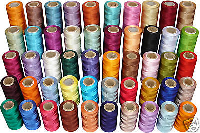 50 Assorted Rayon Machine Embroidery Thread Spools - Top Quality