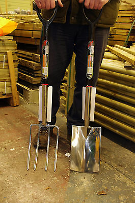 High Quality Stainless Steel Digging Fork and Spade Set - SAVE £5!