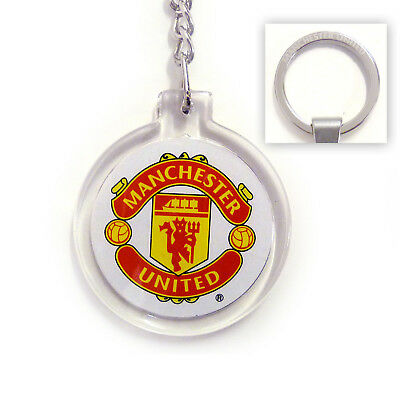 Manchester United Acrylic Crest Keyring Brand New