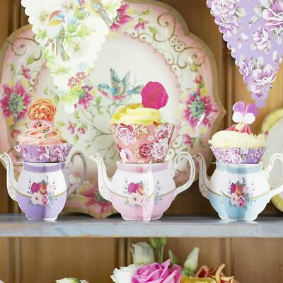 Alice in Wonderland Floral Mini Cup Cake Stand x 6 Vintage Afternoon Tea Party!