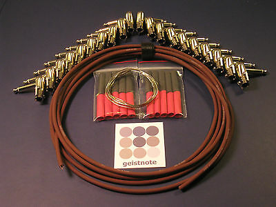 EA Monorail Soldered pedal board kit-10 Cables-SWITCHCRAFT 228-Dealer