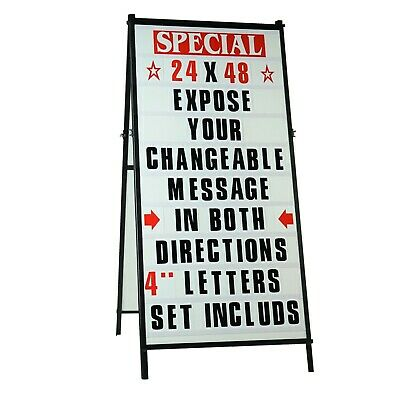 Sidewalk Tall A Frame changeable Letters Message Sign with Letters set