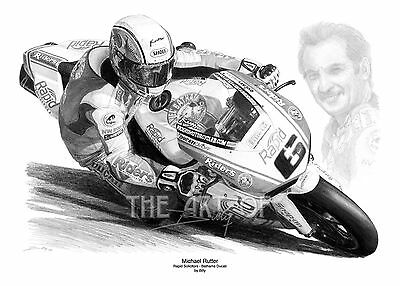 Michael Rutter 'The Blade' by Billy limited edition fine art print