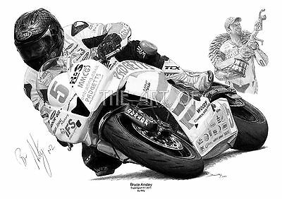 Bruce Anstey Padgetts Motorcycles Isle of Man TT fine art print by Billy