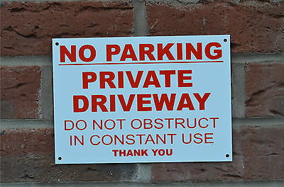 No Parking Private Driveway Do Not Obstruct Constant Use A5 Sign Or Sticker