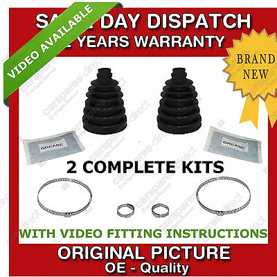 2x OUTER CV UNIVERSAL STRETCH BOOT KIT FIT FOR A SUBARU
