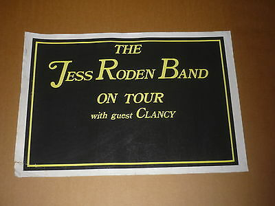 Jess Roden Band/Clancy 1975 Concert Poster